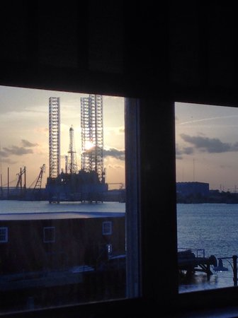 Harbor House: View from our room as the sun begins to set.