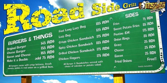 Lazy Dog Roadside Grill: DAILY MENU..