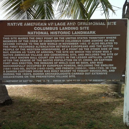Salt River Bay National Historical Park and Ecological Preserve: Signage at the site