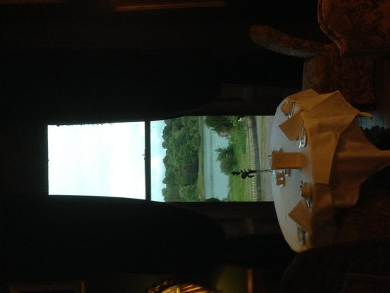 Castle Leslie Estate: View from the castle dining room