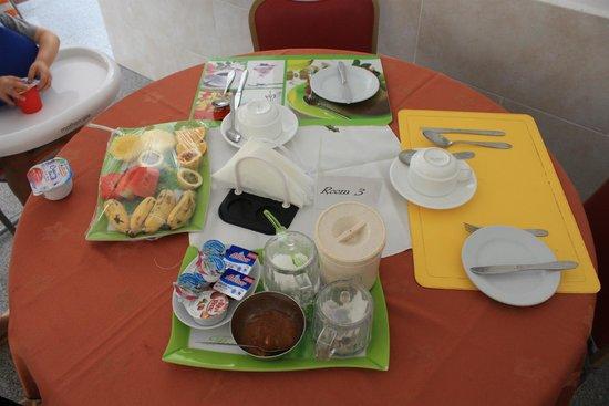 Villa Bananier: petit-déjeuner