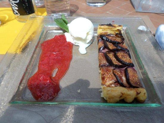 Le Verger des Papes: tarte aux figues et glace lavande