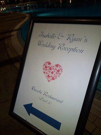 Hilton Malta: Signage to our wedding
