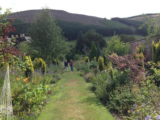 The Hall at Abbey-Cwm-Hir: exploring the gardens