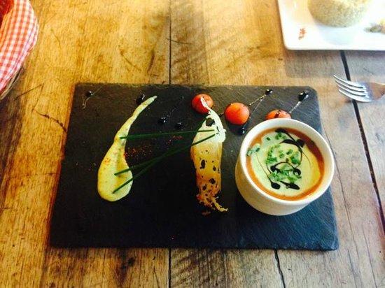 Restaurant Denieu: Gaspacho de tomate pour la formule du midi