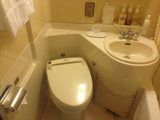 Hotel Sunroute Fukushima : ウォシュレットトイレ。