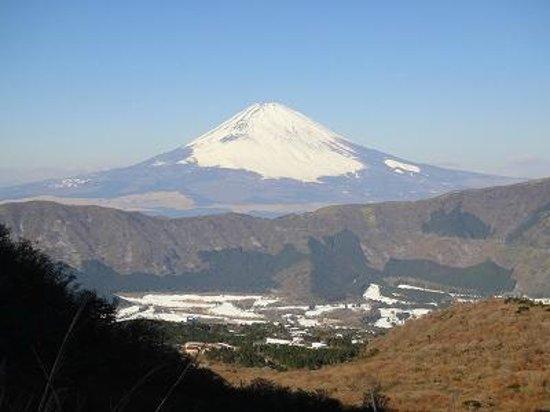 Owaku-dani Valley: 大涌谷からの富士山。