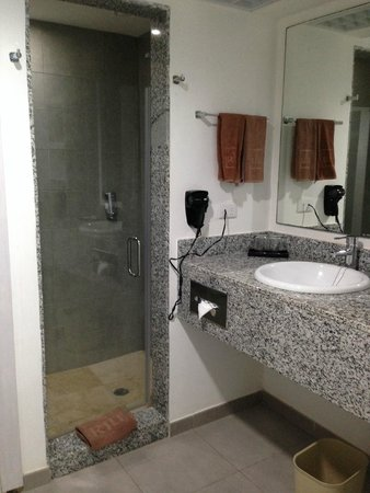 Hotel Riu Yucatan : Shower and Sink Area