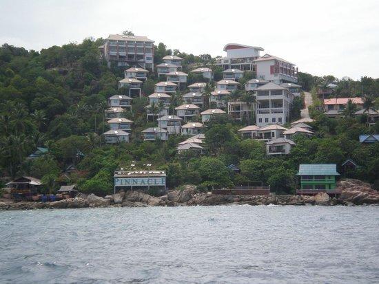 Pinnacle Koh Tao Resort: Вид с моря