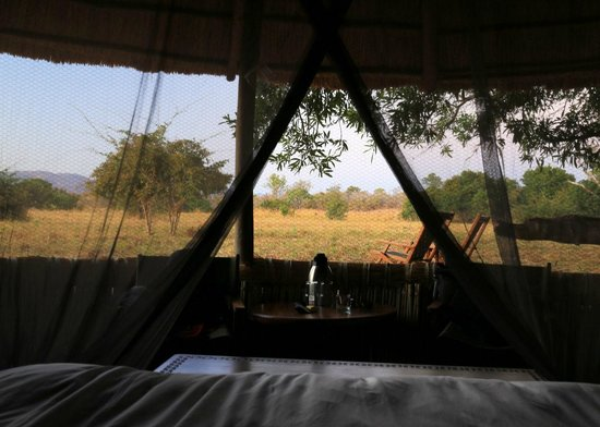 Kuyenda Bushcamp - The Bushcamp Company: View from your bed at dawn