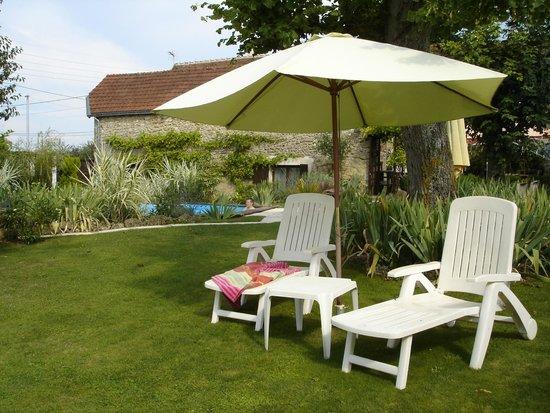 Vallee des Vignes Chambres d'Hotes : Tuin en zwembad