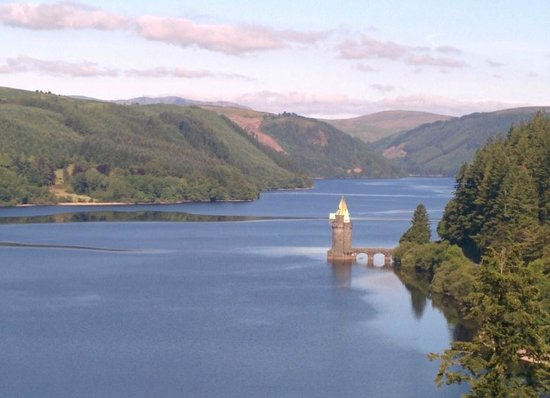 Lake Vyrnwy Hotel & Spa : This was the view when we woke up and stepped out onto our balcony.
