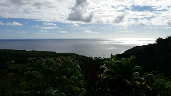 Hana Highway - Road to Hana : View from Overlook along the way
