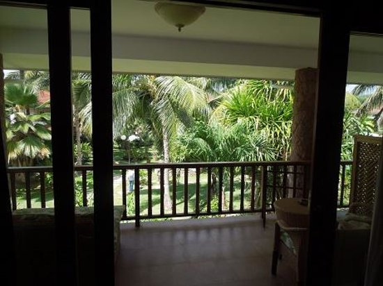 Le Duc de Praslin: View from balcony
