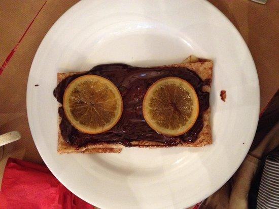 Crêperie Brocéliande : Gallêtte au chocolat et oranges confites