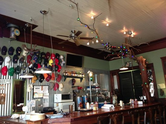 Hole In The Wall Seafood: Eclectic interior design in a very old brick building