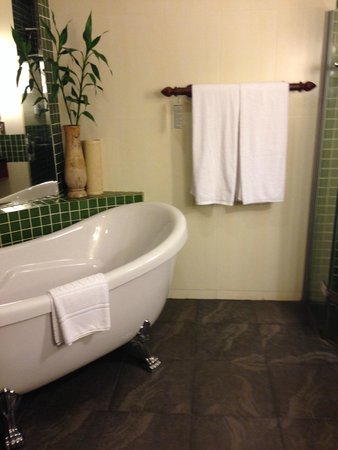 Borei Angkor Resort & Spa : Bathtub with shower area