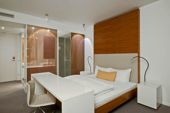 Legere Hotel Luxembourg : Standard Room with open bathroom