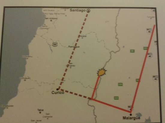 Museo Andes 1972: Mapa do acidente...