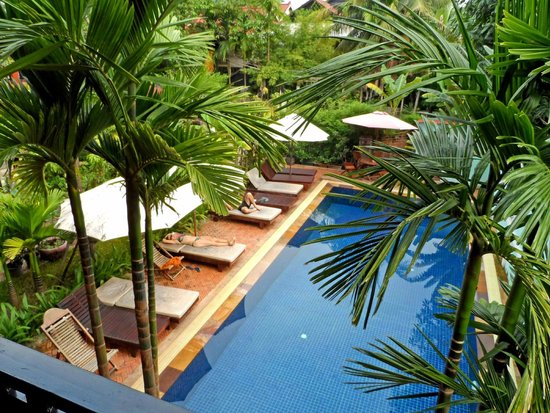 Jasmine Lodge: Blick vom Zimmer-Zugang