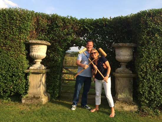 Langar Hall: Croquet on the lawn