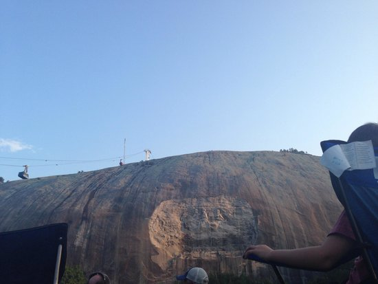 Lasershow Spectacular at Stone Mountain Park : Stone Mountain from the lawn near sunset July 2014