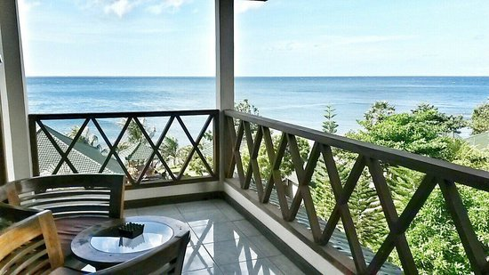 Puri Wirata Dive Resort and Spa Amed: Terrasse
