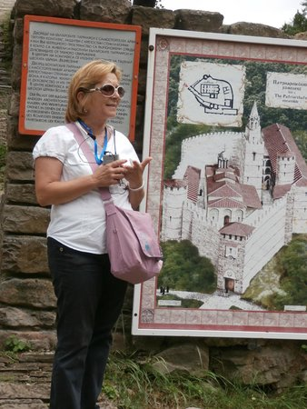 Tsarevets Fortress: Our guide Maya