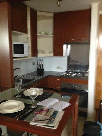 Apart Urbano Bellas Artes: cocina, super equipada, ollas, tostadora.. todo lo necesario