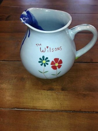The Art Studio : A ready made water pitcher I painted for my friends!