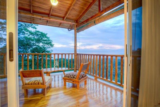 Vista Naranja Ocean View House : View from Aqua room balcony