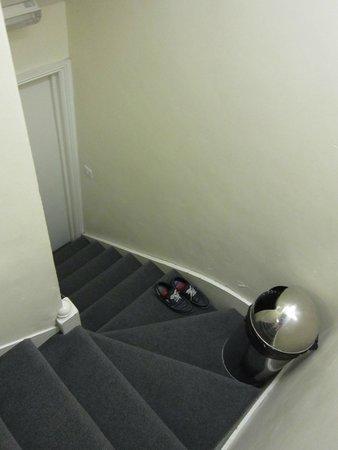 Hyde Park Hostel: L'escalier de notre chambre