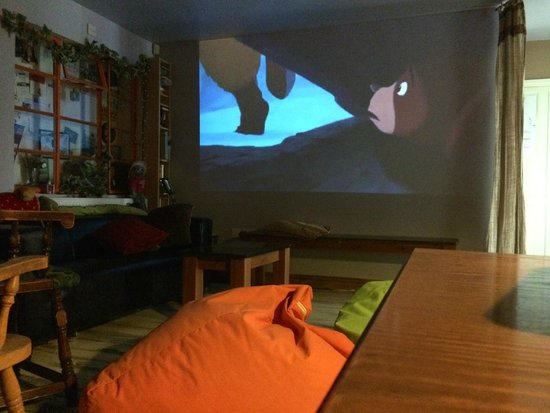 The Missing Sock: The movie room - ideal for keeping the kids entertained. Unique wedding venue, Cambridge.