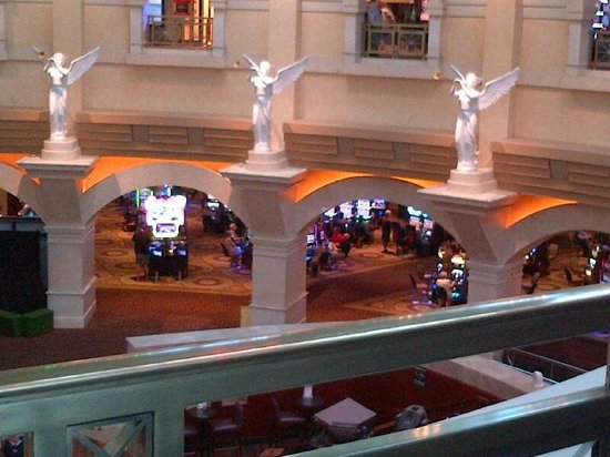 Caesars Windsor : Looking down to lower casino
