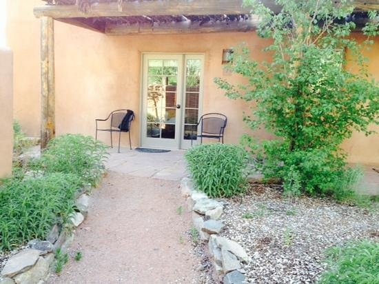 Ojo Caliente Mineral Springs Resort and Spa: the patio of our room