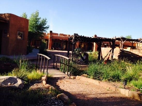 Ojo Caliente Mineral Springs Resort and Spa: the private courtyard for the overnight guests