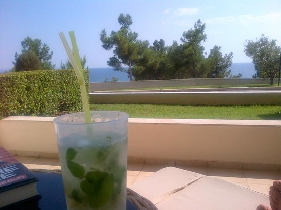 Ikos Oceania : View from my terrace with fav drink!