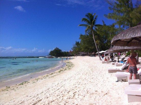 Ambre Resort & Spa: The fabulous sandy beach.