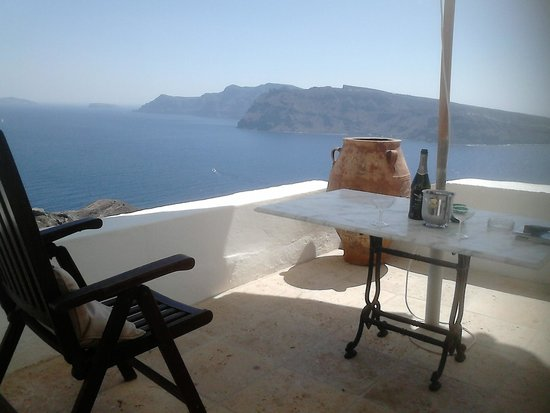 Fanari Villas: The view from the private jacuzzi