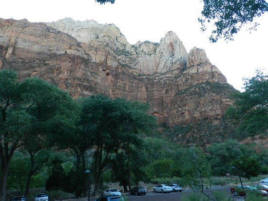 View from deck of our cabin at Zion Lodge