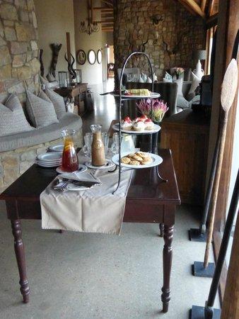 Kwandwe Great Fish River Lodge: Zona cena/colazione