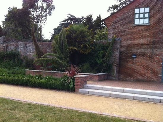 Upton Country Park : Walled garden and rear entrance to cafe