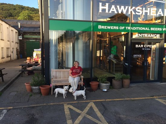 Drinking time at Hawkshead Brewery.