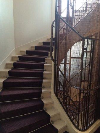 Maison FL: Cute stairwell.