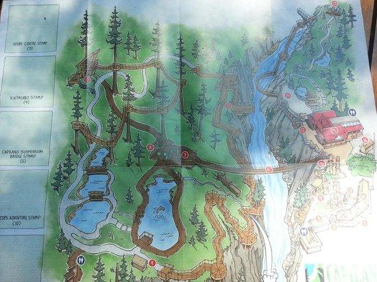 Capilano Suspension Bridge und Park: Map