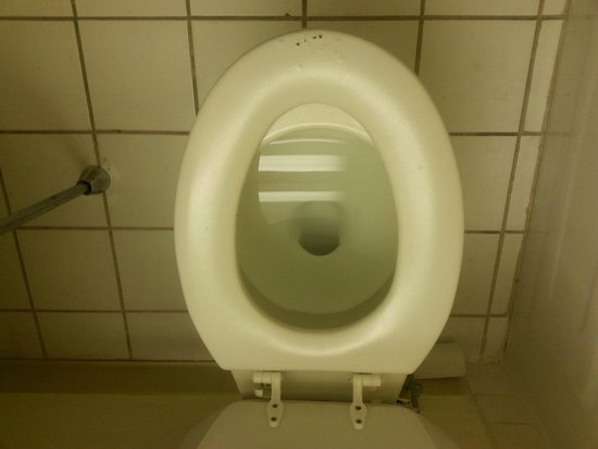 Days Inn Sharonville: Toilet seat doesn't fit toilet, and is cracked