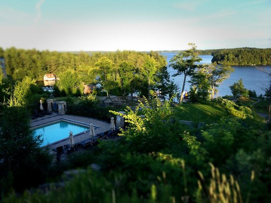 JW Marriott The Rosseau Muskoka Resort & Spa: Overlooking one of the pools and a section of Lake Rosseau.