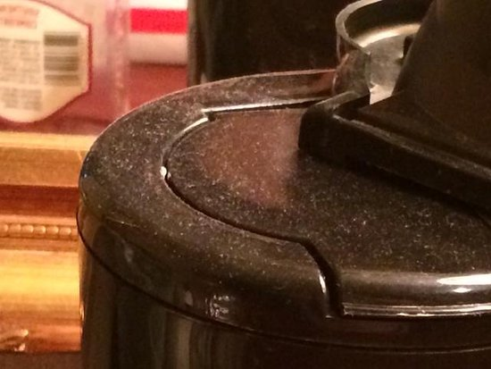 Clarion Hotel: coffee pot hasn't been cleaned inforever
