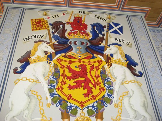 Stirling Castle: Royal heraldry in interior rooms