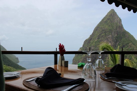 Ladera Resort: view from restaurant